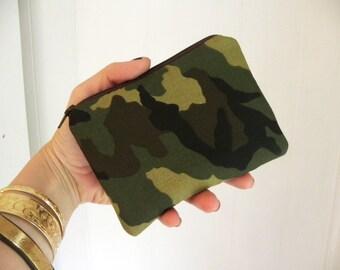 Camo small zipper pouch