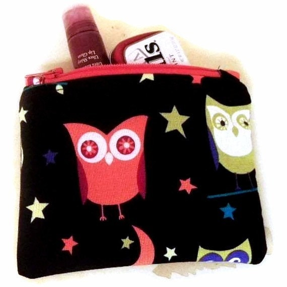 Owls Cute Night owl small zipper coin/accessory purse