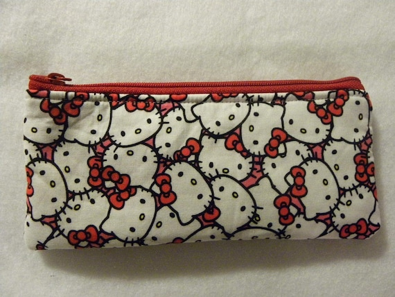 Pencil Case-Long zipper-Hello Kitty