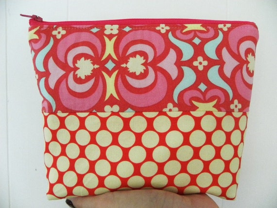 Sale-Amy Butler design Large zipper Cosmetic/accessory Pouch