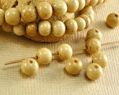 20 Bone Beads Genuine 5mm Round Tea Dyed Brown Natural Beads ethnic boho
