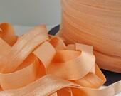5yds Elastic Trim Fold Over HeadBands Ponytail 5/8 inch 15mm FOE Peach Stretch Trim By the Yard