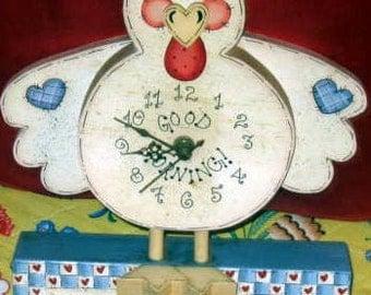 good morning chicken clock