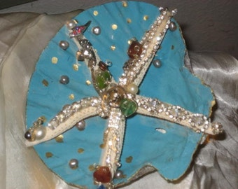 vintage jewelry on real starfish