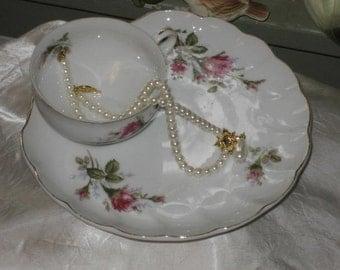 vintage china bella rose lunch set