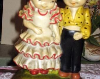 vintage flamenco dancers valentine music box