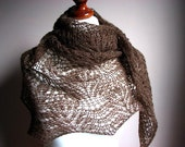 ChoColAte MouSse - hand knitted shawl cashmere