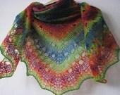 Reserved  SPRING RAINBOW - BIG  handmade knitted shawl