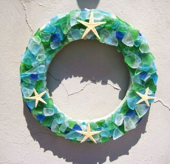 Beachy Sea Glass Wreath