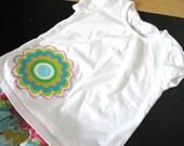 Large Flower Applique Tshirt size 2T