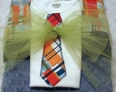 Minky Blanket and Applique Tie Onesie