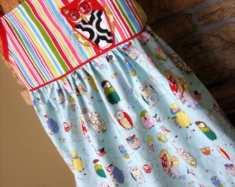 Owl Sun Dress Size 4/5