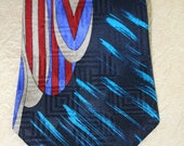 Necktie for Men Vintage Bugatti Designer in Pure Silk