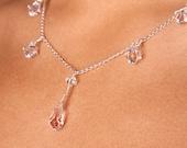 Swarovski Crystal Teardrop Sterling Silver Y Bridal Necklace, The Sara