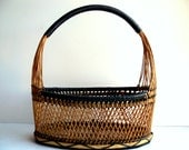 Vintage Woven Basket / The Desk Basket / Home Decor / Office decor