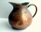 Vintage Copper Pitcher / Tagus / Made in Portugal