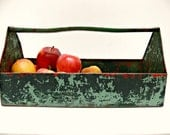 Metal Tool Caddy - Vintage Industrial Decor - Tool Box Repurposed as Planter or Container