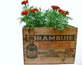 Vintage Wooden Crate - Drambuie Liquor Box - Industrial Decor