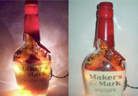 VALENTINE'S DAY SALE - Makers Mark Custom Hokie Bar/Table Lamp - Special Virginia Tech Edition, Item No. 10-015-2