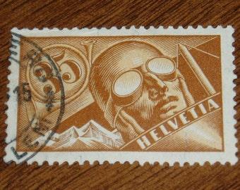 Switzerland Air Mail Stamp, C6, 1920s