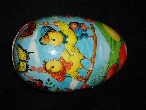 Rare Western Germany Paper Mache Egg, 1940s