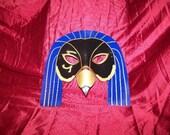 Horus Hawk Egyptian Leather Costume Mask