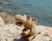 SALE 20 % OFF  Little Hippo - felted toy