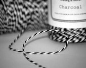Charcoal Black Baker's Twine (240 yard spool) - packaging baked goods, gift wrapping, party favors