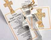 Cross Cookie Cutter with Ribbon Recipe Card - Made in the USA