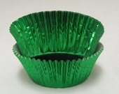 Green Foil Cupcake Liners, Baking Cups - Professional Grade and Greaseproof - 60 count