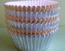 Mini Foil Cupcake Liners, 100 Mini Cupcake Liners, Mini Wedding Cupcake Liners, Mini Foil Baking Cups - Greaseproof