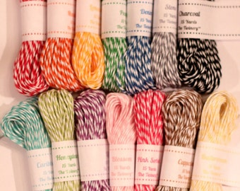 Bakers Twine for Packaging Party Treats, Decorating Wedding Favors, Wrapping Holiday and Party Gifts, Craft DIY Projects - 15 yd.