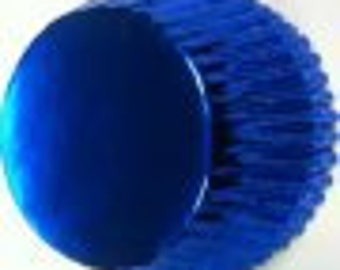 Blue Foil Cupcake Liners Professional Grade and Greaseproof - (100 count)