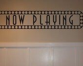 now playing sign wall art decal