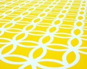 Linked, hand pulled screen print in yellow, limited edition