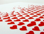 Love Floats, red, hand pulled screen print, limited edition