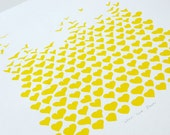 Love Floats, yellow, hand pulled screen print, limited edition