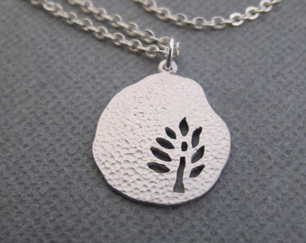 Silver Tree necklace in STERLING SILVER.