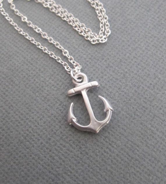 LOVE SALE Silver Anchor necklace.