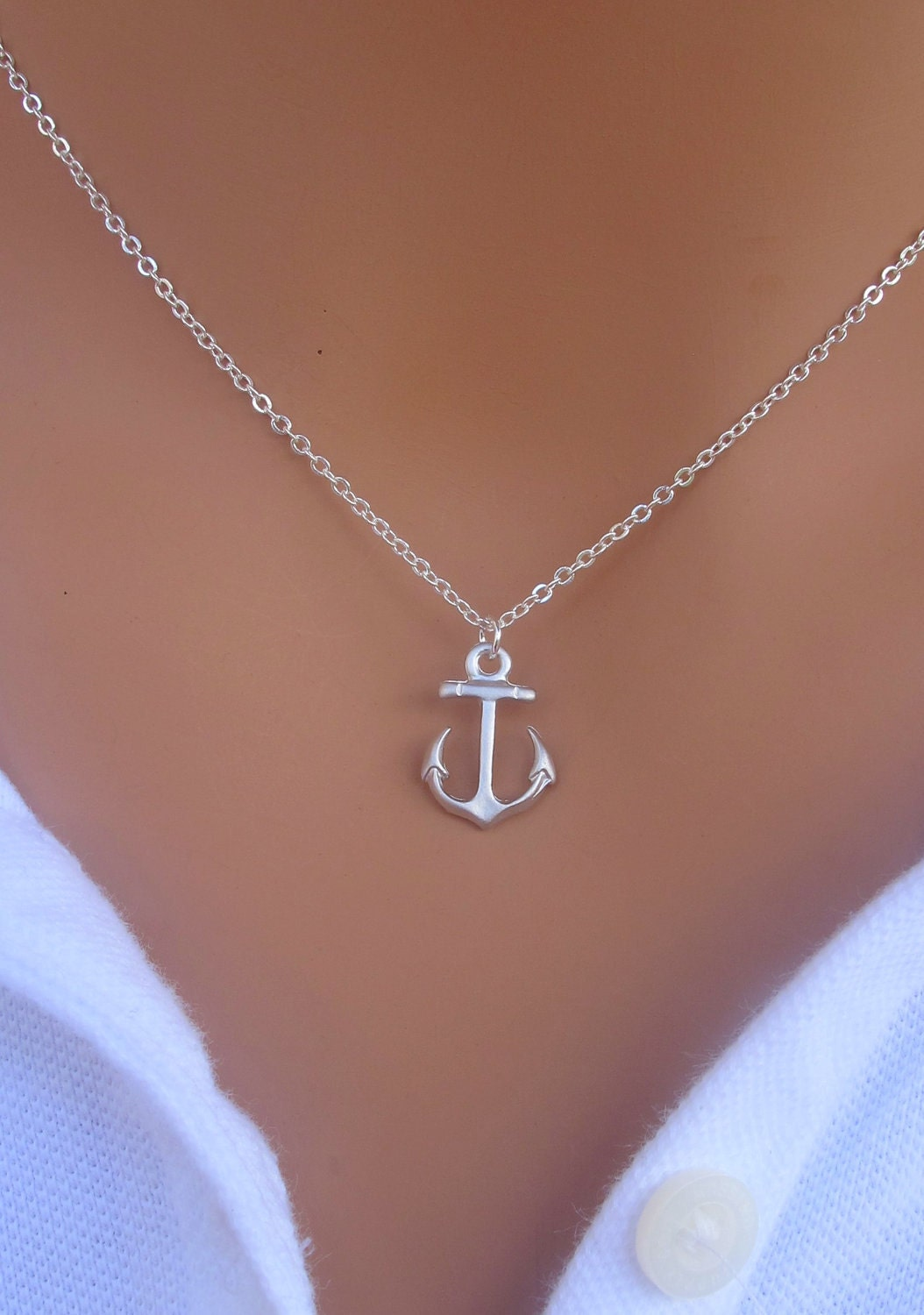 my anchor necklace in sterling silver by royalgoldgifts