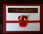 Sweetheart cupcake blank greeting card