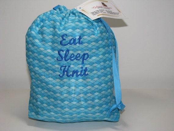 Eat Sleep Knit - Small Project Bag