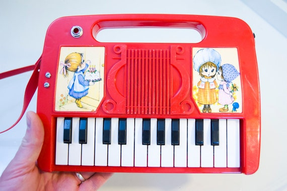 Hod Rod Red Circuit Bent Mini Organ Synthesizer with Strap Holly Hobby