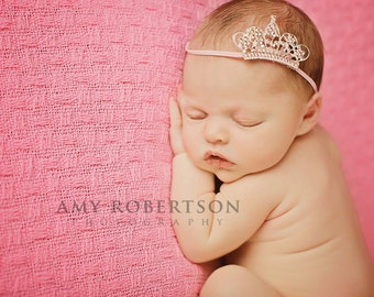 The PRINCESS Is HERE Headband - Preemie to Adult Sizes Available