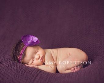 POSH IN PURPLE - Glitter Headband in Sizes Preemie to Adult