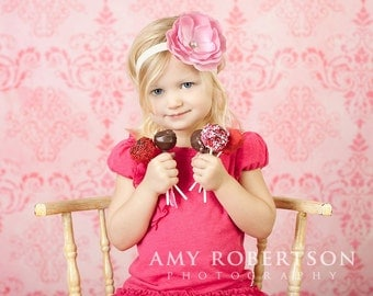 THE DUSTY ROSE Headband or Clip - Preemie to Adult Sizes Available