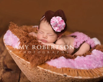 The RHINESTONE COWGIRL HAT - Preemie to Adult Sizes Available