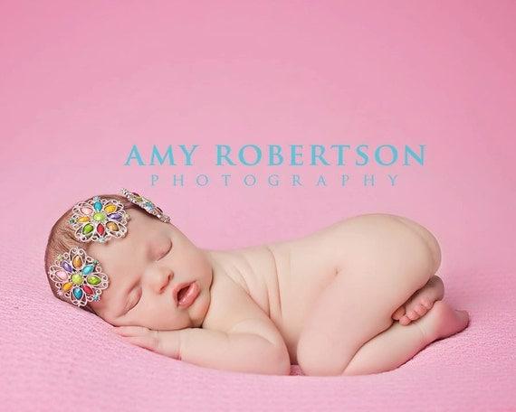VINTAGE CARNIVAL Headband - Preemie to Adult Sizes Available