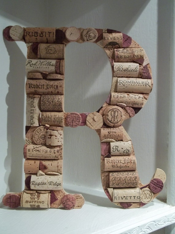sale wine cork letter r