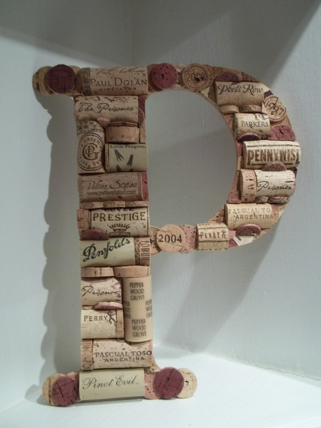 wine cork letter p zoom